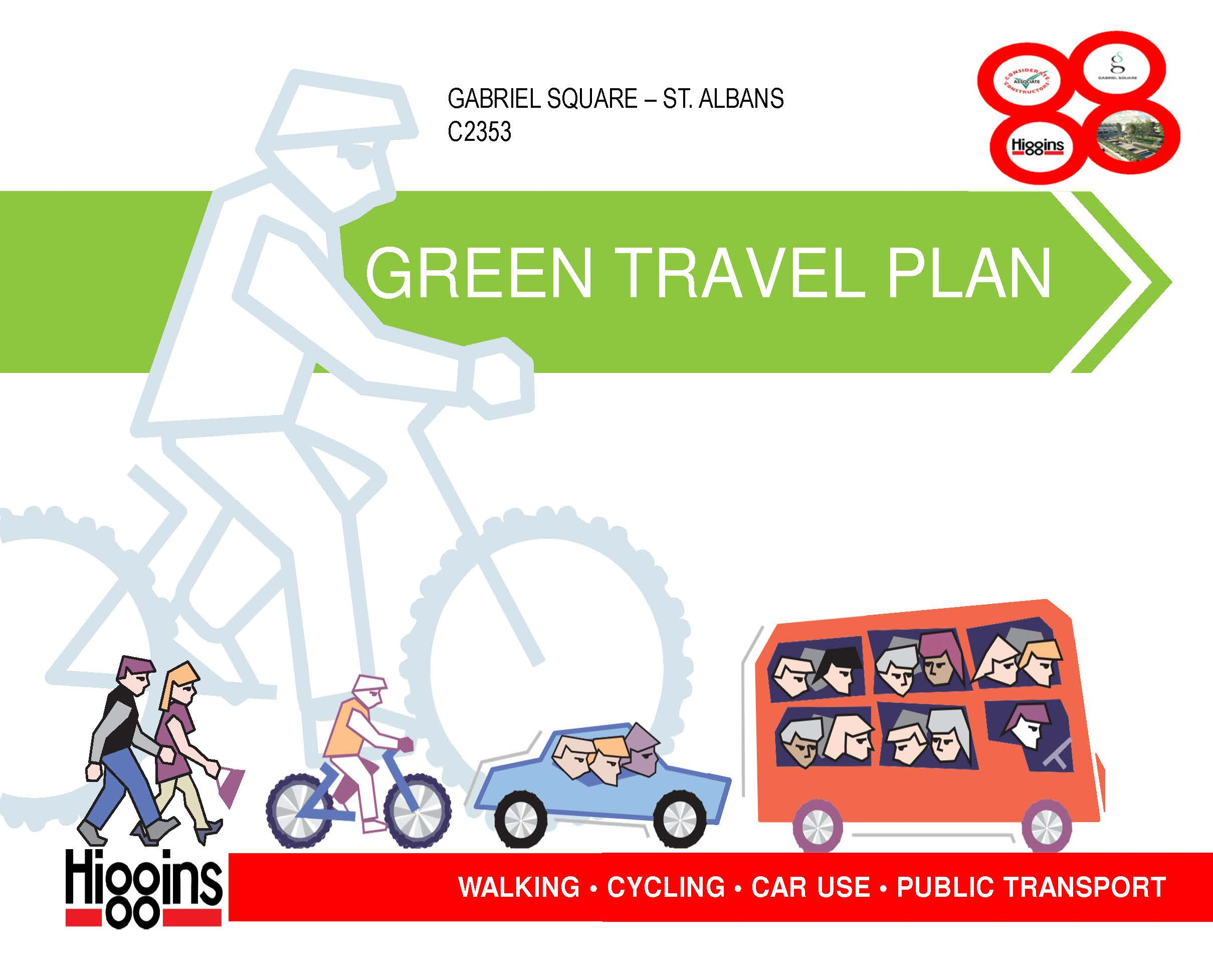 187 green travel plan for gabriel square best practice hub