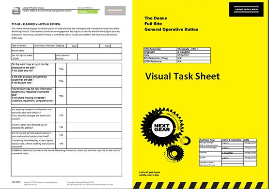 visual task sheets best practice hub