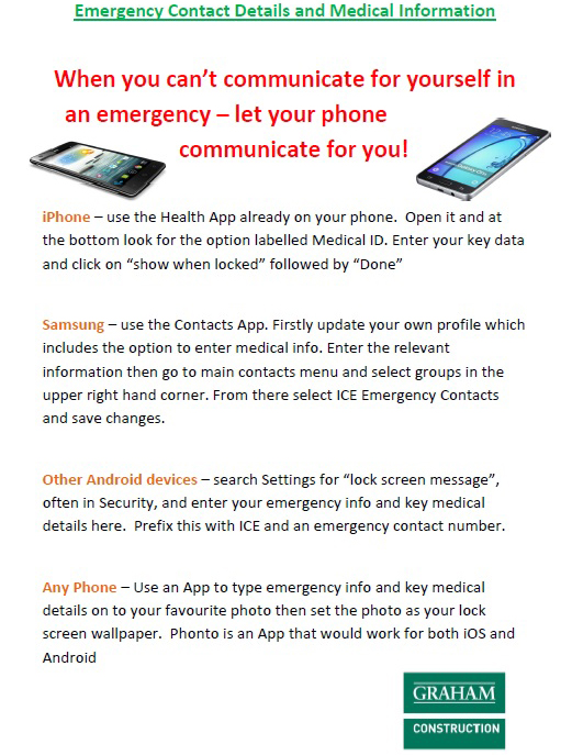 emergency contact details and medical information best practice hub