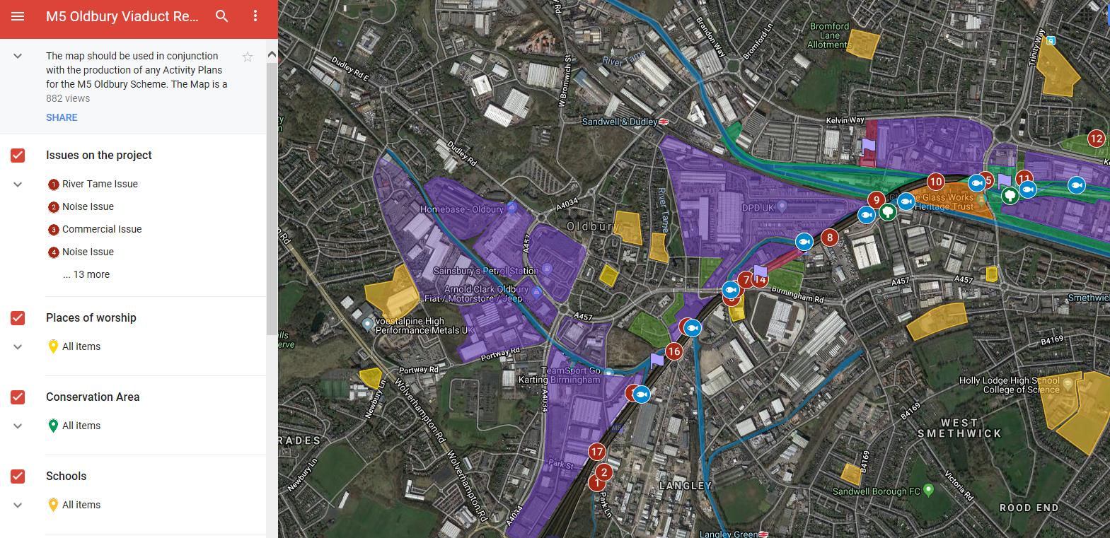 M5 Oldbury Viaduct Online Environmental Receptors Map Best Practice Hub